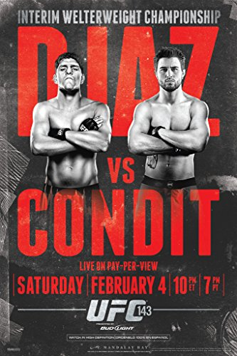 Pyramid America Official UFC 143 Nick Diaz vs Carlos Condit Sports Poster 12x18 inch (Best Of Nick Diaz)