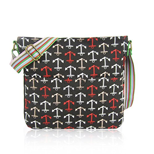 School ANCHOR Canvas Bags UNICORN Cross Bag WHALE CRITTERS Anchor Body Girls NEW London Craze Bag CAT MIXED Ladies ELEPHANT RABBIT black UMBERILLA Messenger aRIHgx0qxw