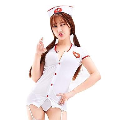 Luckycat Uniforme de Enfermera Sexy de la Ropa Interior de la Mujer de Las Mujeres Traje