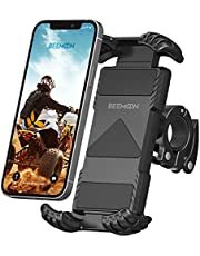 """Beemoon Bike Phone Mount - Universal Motorcycle Phone Holder for Handlebars, Anti Shake Bike Cell Phone Holder for iPhone 12 11 Pro Max 9 8 S Samsung S20 S10 Oneplus All 4.7"""" - 6.8"""" Devices, Black"""