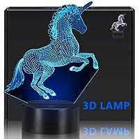 KISPTMIN Unicorn 3D Night Light, Decorative LED Bedside...