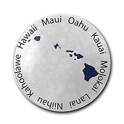 JFD Hawaii State Map Bar Drink Ceramic Coaster Furniture