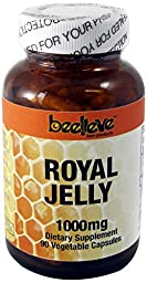 Beelieve Royal Jelly Veg Capsules, 1000 mg, 90 Count