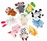 10 pcs Tiny Animal Farm Finger Puppet Toy Cloth Toy
