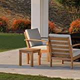 Patio Sense Lio, Oslo Wooden Side Table, Sofa & Bed End Table, Natural Wood Finish, Durable Solid Acacia Wood