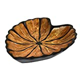 Fancy Caladium Leaf Mango Wood Plate/Tray