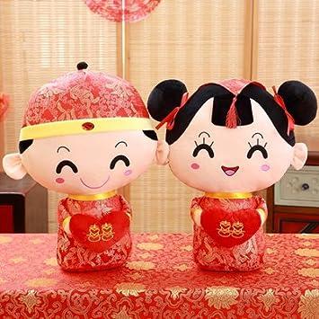Hebao Mariage Chinois Poupée Presse Une Paire De Grande