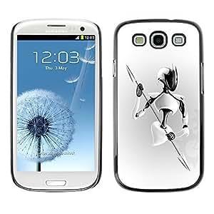 GagaDesign Phone Accessories: Hard Case Cover for Samsung Galaxy S3 - White Warrior