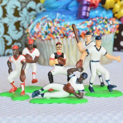 Baseball Team Cake Topper (6 Players) Baseball Player Figurine