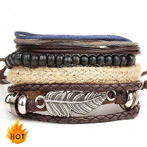 Ladies Woods Tiger Watch (Men Women Braided Hemp Cords Wood Beads Ethnic Tribal Bracelets Bracelet Wristband (Brown))