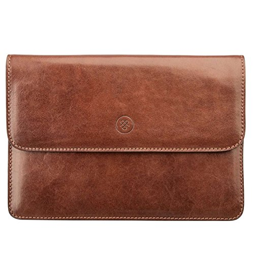 Maxwell Scott Luxury Tan Leather Travel Document Holder (Torrino) by Maxwell Scott Bags