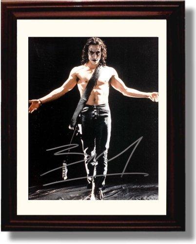 Framed Brandon Lee Autograph Replica Print - The Crow