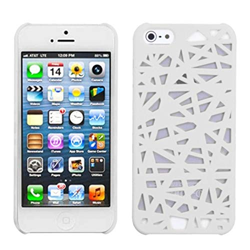 - Insten Bird's Nest Rubberized Hard Snap-in Case Cover Compatible with Apple iPhone 5/5S/SE, White
