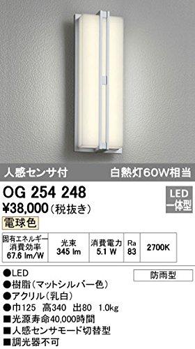 ODELIC(オーデリック) エクステリアライト LEDポーチライト【人感センサ付】 樹脂シートなし:OG254248 B008KH03A2 16211