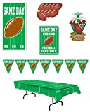 Beistle S27AZA Football Game Day Party Decorations, 4.5' - 144', Green/White/Brown/Yellow