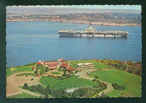 USS Lake Champlain Aircraft Carrier CV-39 Ocean Drive Newport RI Postcard Newport Drive