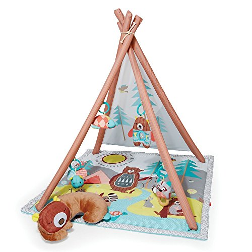 Skip Hop Baby Infant and Toddler Camping Cubs Activity Gym and Playmat, Multi (Wooden Baby Gym)