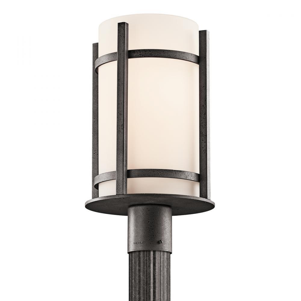 Kichler 49123AVI Camden Outdoor Post Lantern in Anvil Iron