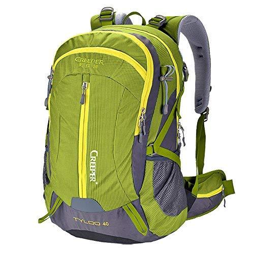 Creeper Outdoor Sports Camping Hiking Waterproof Backpack Daypacks Mountaineering Bag 40L 50L Travel Trekking Rucksack with Rain Cover (Green, 40L) [並行輸入品] B07R4V6XT7