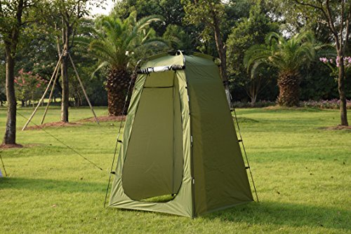 Iweibao Portable Folded Pop Up Pod Changing Room Beach Shower Toilet Tent (green)