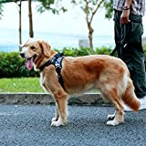 Docamor Dog Harness No Pull Soft Padded Pet Walking Vest Harness with Handle Reflective Adjustable Oxford Material