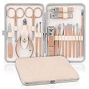 NASUM Manicure Set 18PCS Nail Set Nail Clipper Grooming Kit for Women, Men,Girls Professional Stainless Steel Nail…