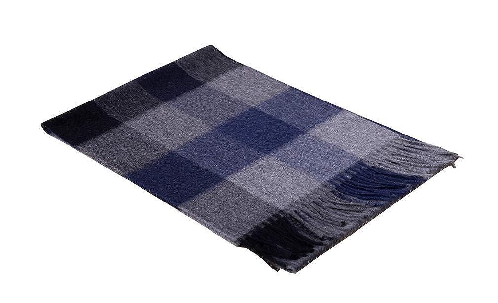 bluee a 100% Pure Cashmere Scarf Feel Pashmina Shawl Wraps Soft Warm For Men Women