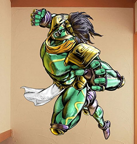 Fashion Colorful Cosplay Anime JoJo's Bizarre Adventure Wall Stickers Wall Decor Wall Decals Wall Art Decor for Kid's Room/Bedroom/Living Room/Office Classroom Creative Home Decor Anmie Fans Gift