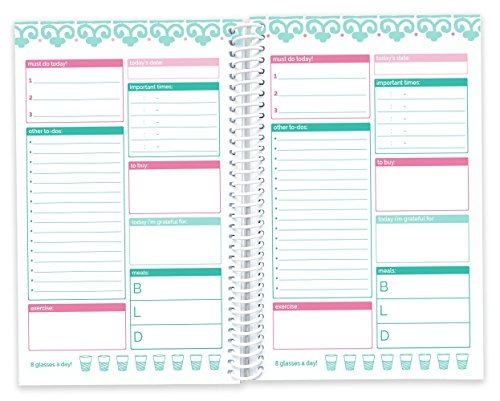 "bloom daily planners Bound to-Do List Book - UNDATED Daily Planning System Tear Off Calendar Pages - 6"" x 8.25"" - Bloom"