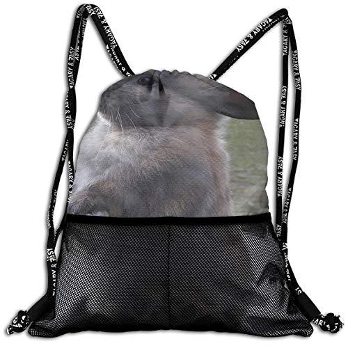 Gym Travel Sport Beam Backpack Rabbits Pet Bunny Beam Bag Basketball, Volleyball, Baseball Sackpack For Boys Teens Youth, Shopping Sport Yoga ()