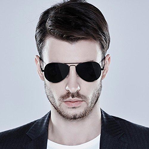 De 100 para TESITE UV Hombres Gafas De Sol ProteccióN Polarizadas Gafas Negro 5qwwTzI