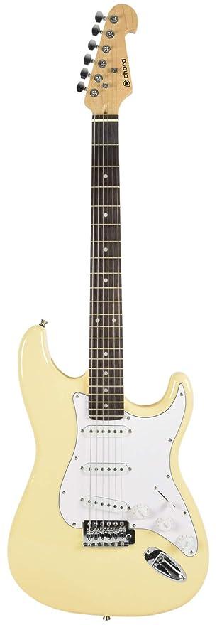 Guitarra eléctrica profesional Chord, Vintage white gloss