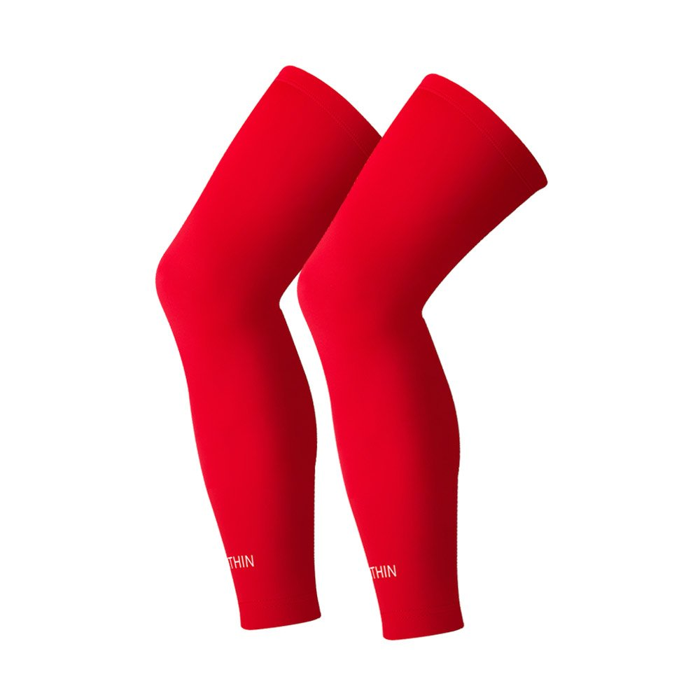 SONTHIN Leg Sleeves Compression Full Leg Long Sleeves for Men Women Youth 5 Colors Available,1 Pair