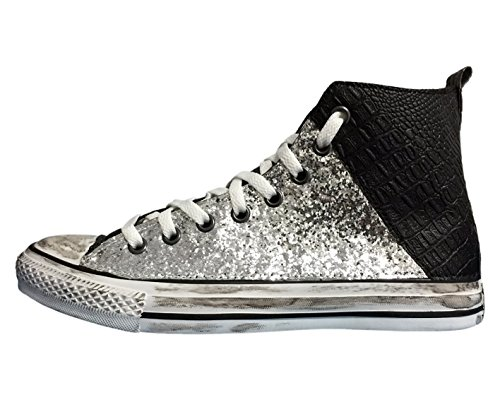 Stefano Natussi High Silver Trainers Adults' Unisex 4fvqA