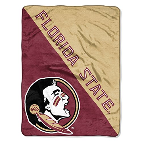 State Bed Florida (The Northwest Company Officially Licensed NCAA Florida State Seminoles Halftone Micro Raschel Throw Blanket, 46