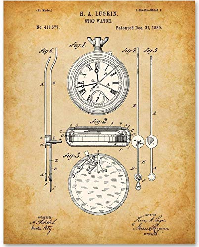 Stopwatch - 11x14 Unframed Patent Print - Great Gift for ()