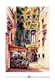 Italian Restaurant Art Print Poster Italy trattoria 13 x 19in