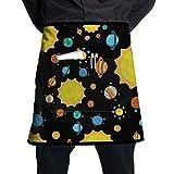 Planets Sun Solar System Bib Half Aprons Kitchen Aprons With Pockets