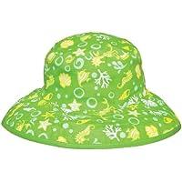 Baby Banz 7740 Banz 50+ UV Koruma Çift Taraflı Güneş Şapkası, Yeşil
