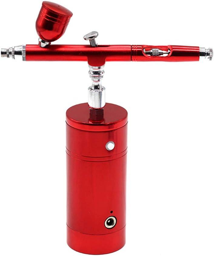 VVV Multipropósito Inalámbrico Aerógrafo Compresor de Aire Kit de Doble Acción Individual Pistola de Pintura Pluma Cargador de Batería Portátil Cepillo de Aire Conjunto