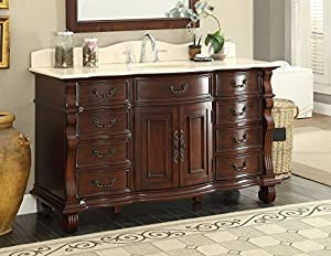 "60"" Large Single Sink Bathroom vanity cabinet - Model GD ..."