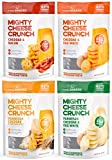 Low Carb, Gluten Free, High Protein Healthy Cheese and Egg Snack – Savory, Keto & Diet Friendly Cheese Crunch with Natural Ingredients, Variety Pack of 4, 2oz Bags, by Mighty Fine Snacks