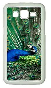 discount coversplendid peacock PC White case/cover for Samsung Galaxy Grand 2/7106