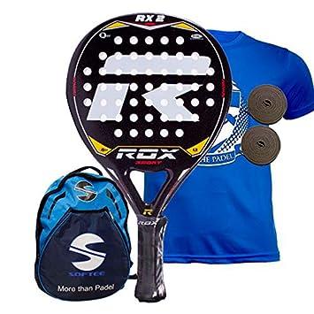 Rox RX2 Pala de pádel, Unisex Adulto, Negro/Amarillo/Rojo, 38 mm: Amazon.es: Deportes y aire libre
