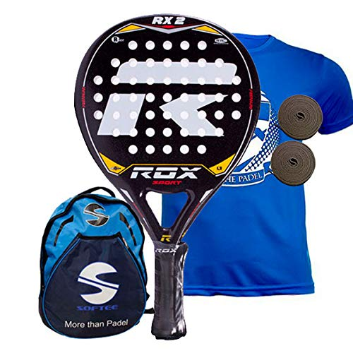 Rox RX2 Pala de pádel, Unisex Adulto, Negro/Amarillo/Rojo ...