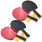 Aoneky 4-Player Ping Pong Paddles Set
