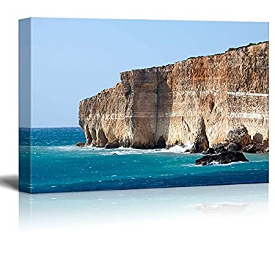 Beautiful Scenery Landscape Comino Island Cliff and View of Mediterranean - Canvas Art Wall Art - 24