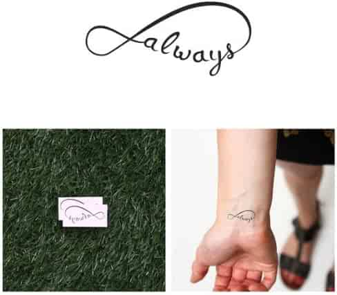 d4b6d2ef32dd1 Tattify Infinity Always Temporary Tattoo - With You (Set of 2) - Other  Styles
