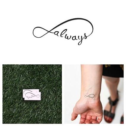 Tattify infinito siempre Tatuajes Temporales - con you (Set de 2 ...