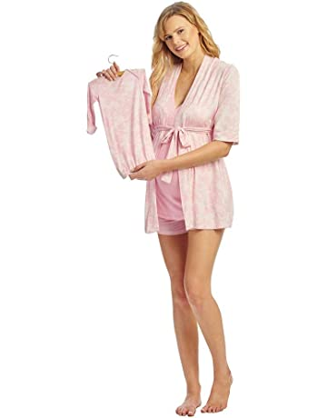 a5fb06132f9d Everly Grey Women s Adalia 5 Piece Maternity and Nursing PJ Short Set with  Robe and Baby